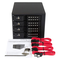 """A small tile product image of Startech 4 Bay 3.5"""" SATA/SAS HDD Trayless Mobile Rack Backplane w/Fan"""