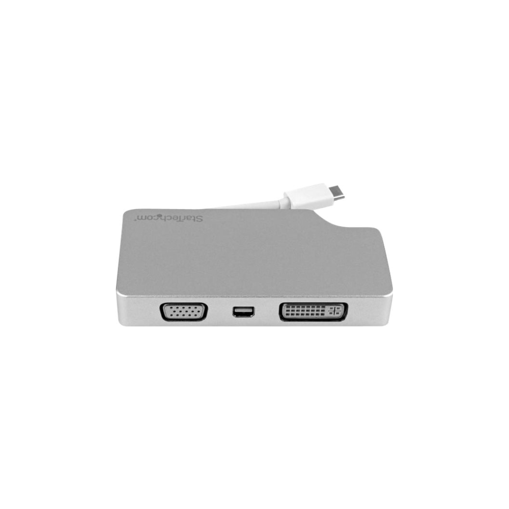 A large main feature product image of Startech 4-in-1 Video Converter - USB Type C to VGA DVI HDMI mDP - 4K