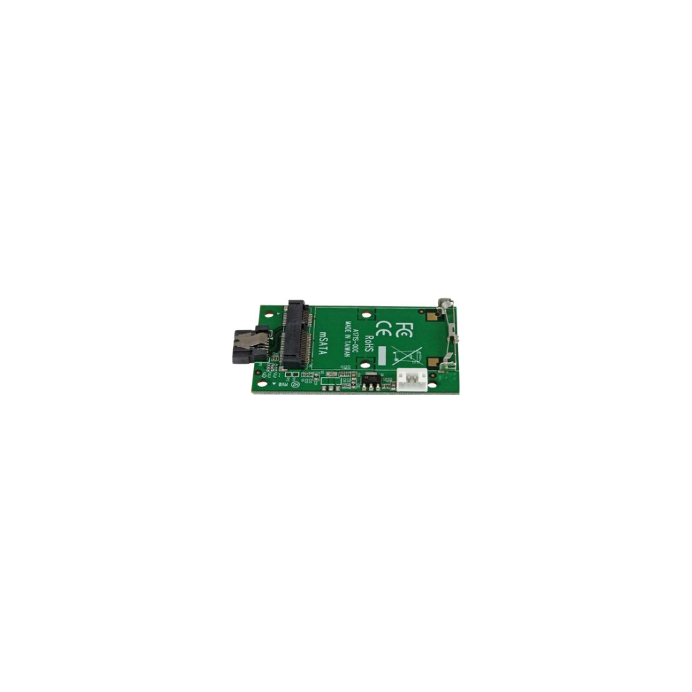 A large main feature product image of Startech SATA to mSATA Adapter Converter Card
