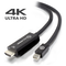 A small tile product image of ALOGIC Elements ACTIVE 2m Mini DisplayPort to HDMI Cable with 4K@60Hz Support -  Male to Male