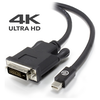 A product image of ALOGIC Elements ACTIVE 2m Mini DisplayPort to DVI-D Cable with 4K Support - Male to Male