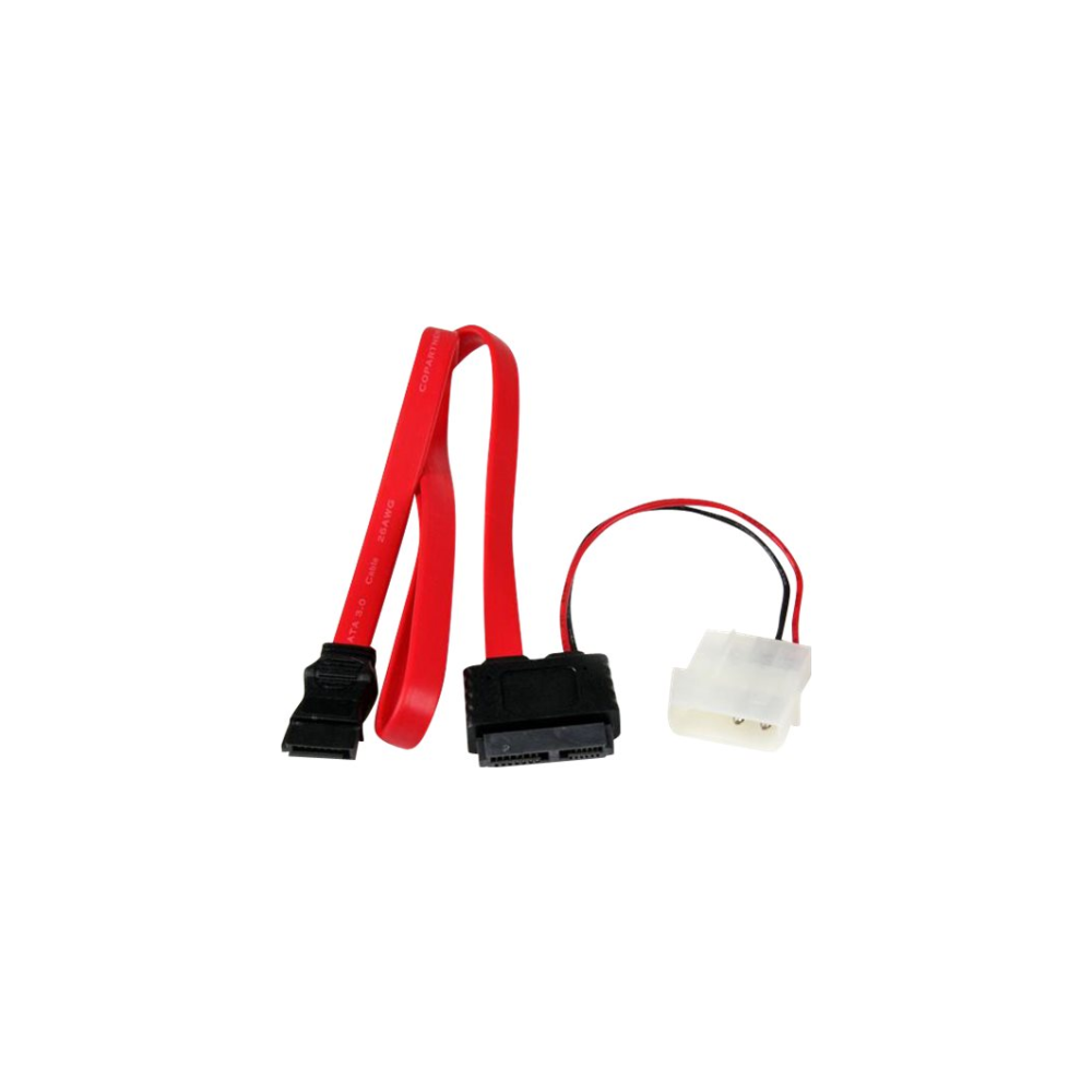 A large main feature product image of Startech Slimline SATA to SATA 50cm Cable