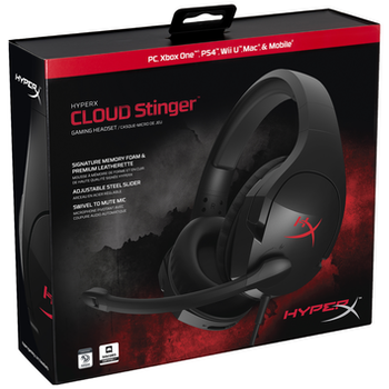 Product image of Kingston HyperX Cloud Stinger Gaming Headset Black - Click for product page of Kingston HyperX Cloud Stinger Gaming Headset Black