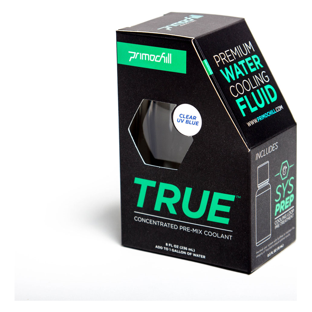 A large main feature product image of PrimoChill True Infused – Insanely Concentrated Liquid Pre-Mix– Clear/UV Blue