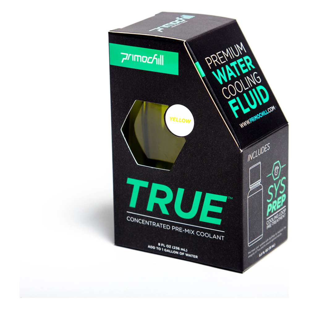 A large main feature product image of PrimoChill True™ Infused – Insanely Concentrated Liquid Pre-Mix– Yellow