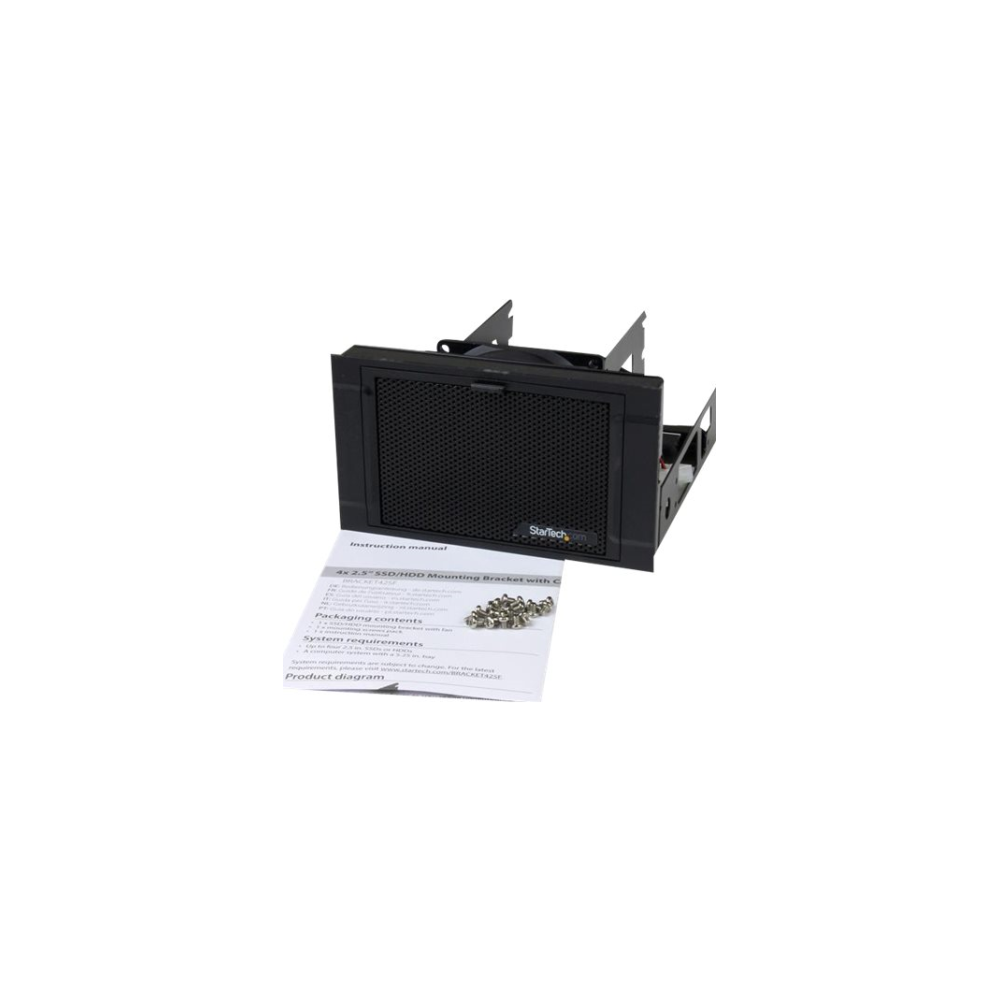 """A large main feature product image of Startech 4-Drive 2.5"""" SSD/HDD Mounting Bracket- for Desktop or Server"""
