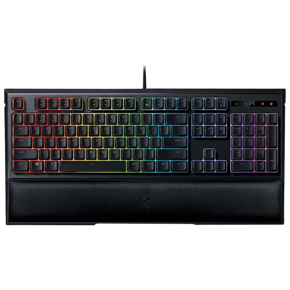 A large main feature product image of Razer Ornata Chroma Hybrid Gaming Keyboard