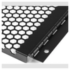 A product image of Startech Vented Blank Panel with Hinge for Server Racks - 4U