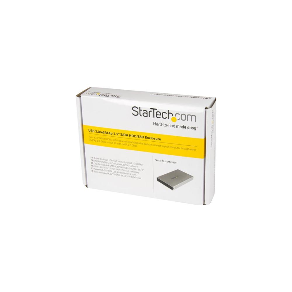 A large main feature product image of Startech eSATAp/eSATA/USB 3.0 Hard Drive Enclosure