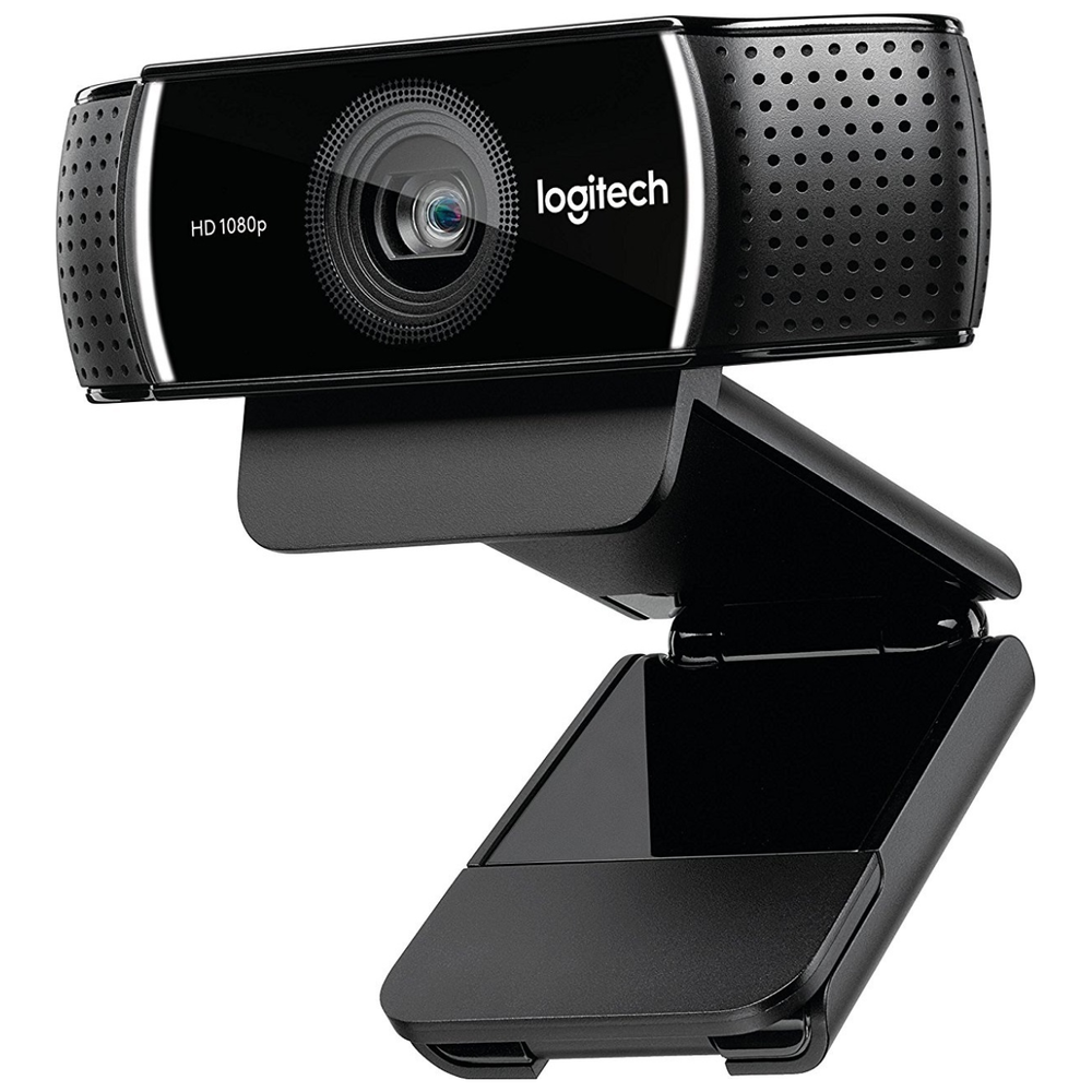 A large main feature product image of Logitech C922 Pro Full HD Streaming Webcam