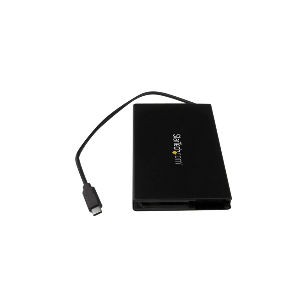 """A large main feature product image of Startech USB3.1 (10 Gbps) 2.5"""" SATA Drive Enclosure with USB-C Cable"""
