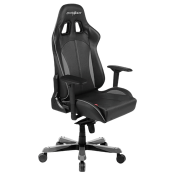 Product image of DXRacer KS57 Series PC Gaming Chair - Black & Carbon Grey w/ Lumbar Support - Click for product page of DXRacer KS57 Series PC Gaming Chair - Black & Carbon Grey w/ Lumbar Support