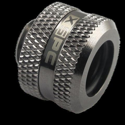 XSPC G1/4 14mm OD Black Chrome Triple-Seal PETG Fitting V2