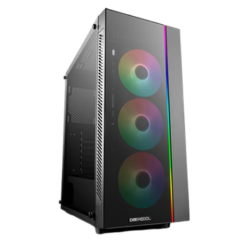 Product image of Deepcool Matrexx 55 Addressable RGB 3F Mid Tower Case w/ Tempered Glass Side Panel - Click for product page of Deepcool Matrexx 55 Addressable RGB 3F Mid Tower Case w/ Tempered Glass Side Panel