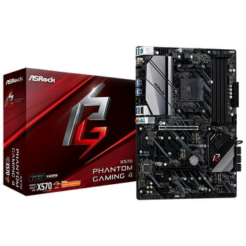 Product image of ASRock X570 Phantom Gaming 4 ATX AM4 Desktop Motherboard - Click for product page of ASRock X570 Phantom Gaming 4 ATX AM4 Desktop Motherboard