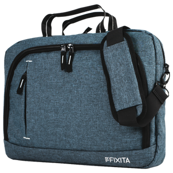 "Product image of Fixita Urban 15.6"" Grey Messenger Notebook Bag - Click for product page of Fixita Urban 15.6"" Grey Messenger Notebook Bag"