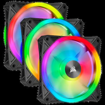 Product image of Corsair iCue QL120 120mm RGB PWM Triple Fan Pack - Click for product page of Corsair iCue QL120 120mm RGB PWM Triple Fan Pack