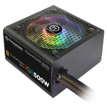 Product image of Thermaltake Toughpower GX1 RGB 500w 80Plus Gold Power Supply - Click for product page of Thermaltake Toughpower GX1 RGB 500w 80Plus Gold Power Supply