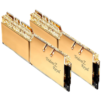 Product image of G.Skill 16GB Kit (2x8GB) DDR4 Trident Z Royal Gold RGB C22 5333Mhz - Click for product page of G.Skill 16GB Kit (2x8GB) DDR4 Trident Z Royal Gold RGB C22 5333Mhz